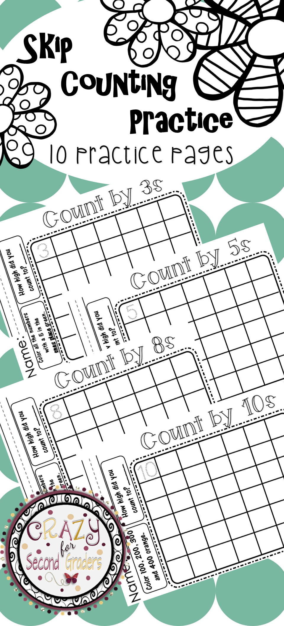Skip Counting By Practice My Tpt Products Skip