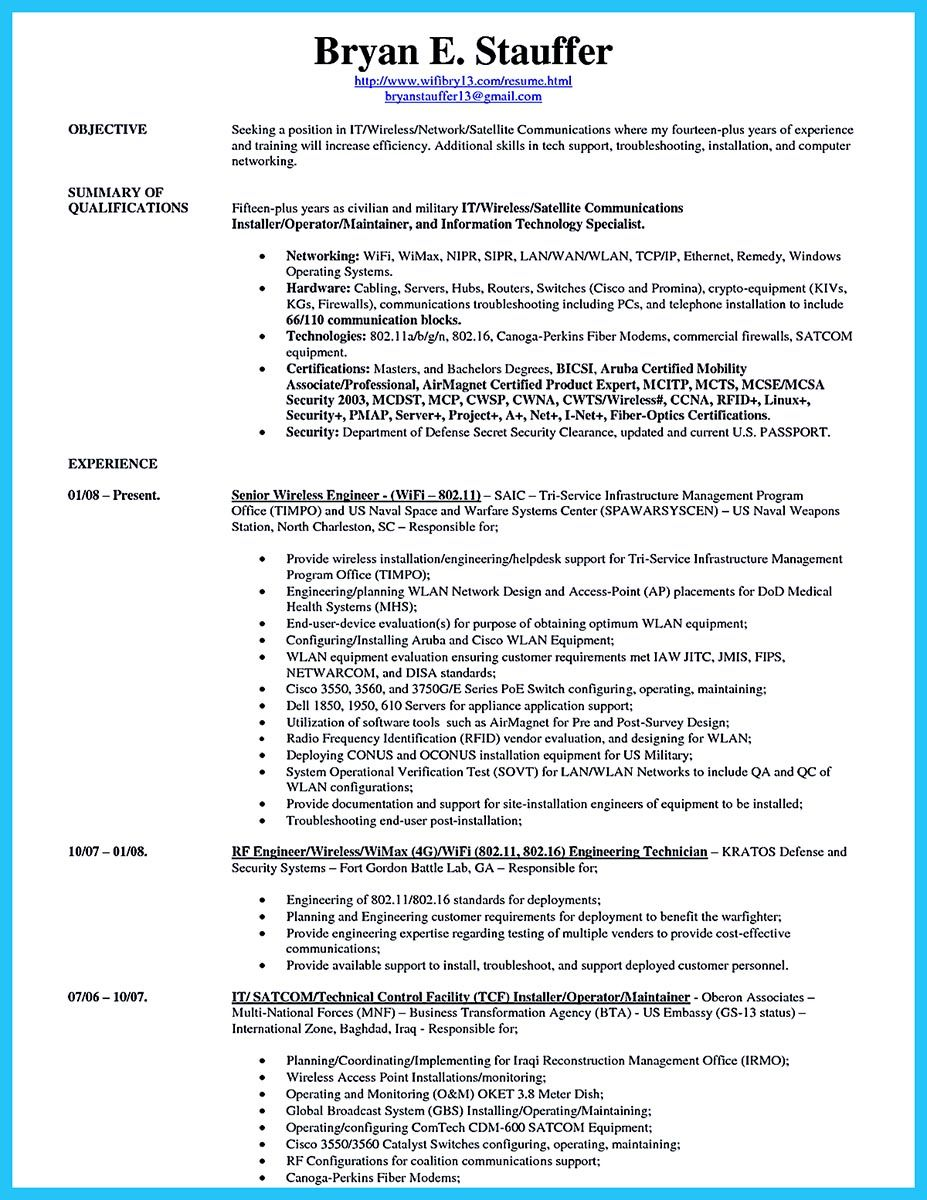 sample resume for modem system test engineer