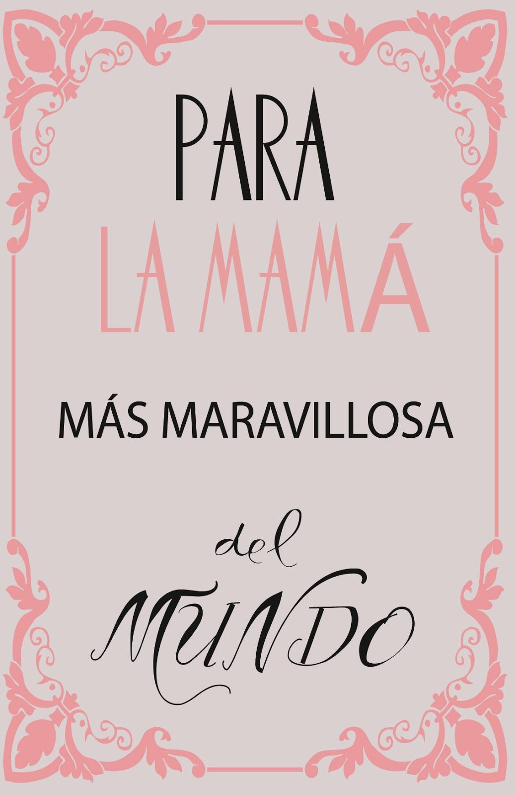 cartel día de la madre-mother\'s day poster | Día de la madre in 2018 ...