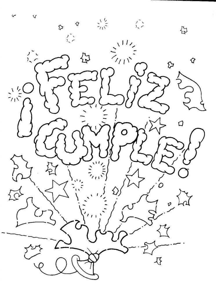 Birthday Coloring Pages For Birthday Party Coloring Fun! | 1024x745