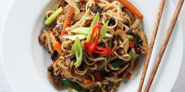Chinese Black Bean Noodles Vegan