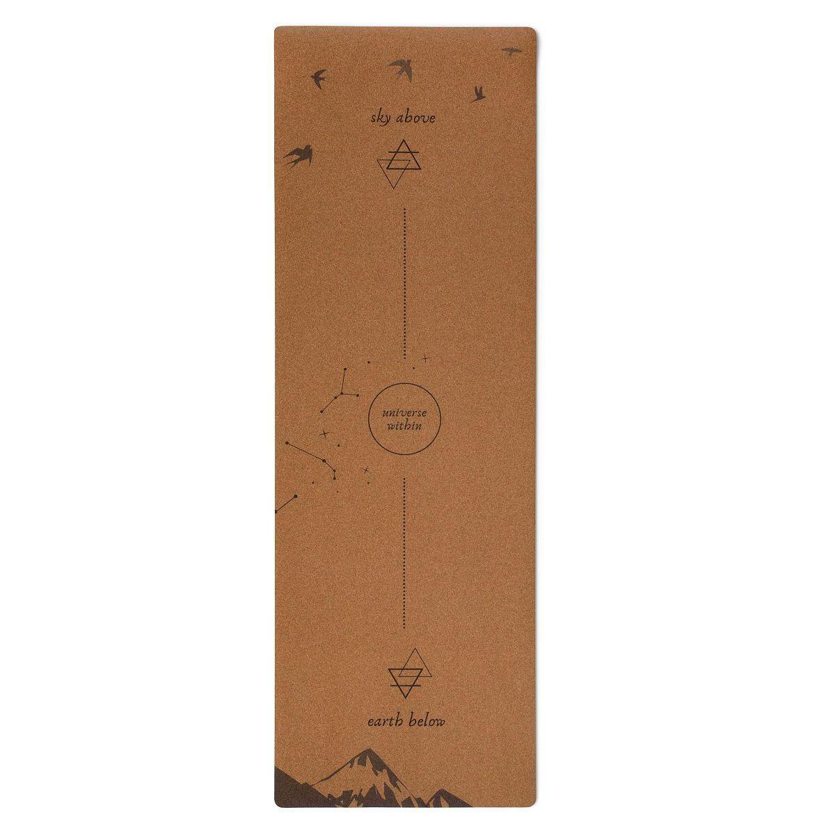 Cork Universe-Alignment Mat & Strap  | Sustainable Yoga Mat #corkyogamat