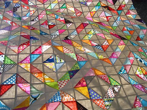 Red Pepper Quilts: All the Details 400 half square triangles - cut ... : half square quilt patterns - Adamdwight.com
