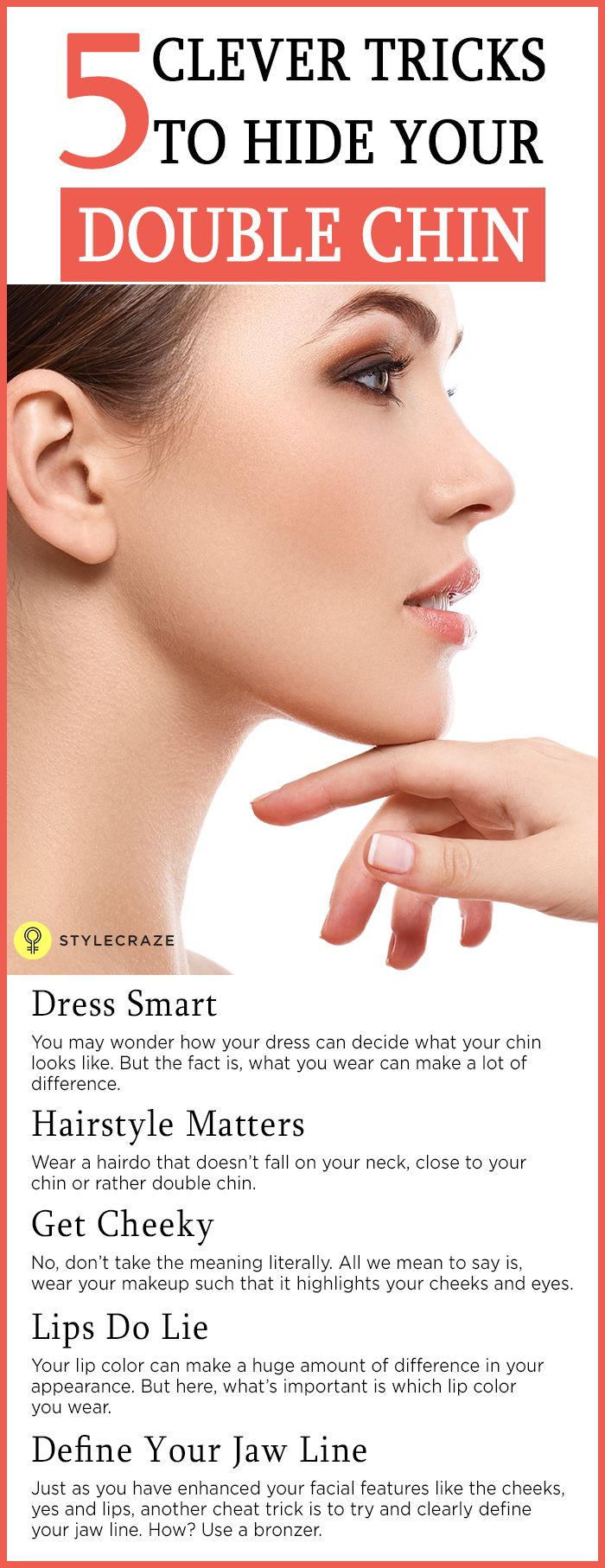 5 Clever Makeup Tricks To Hide Your Double Chin