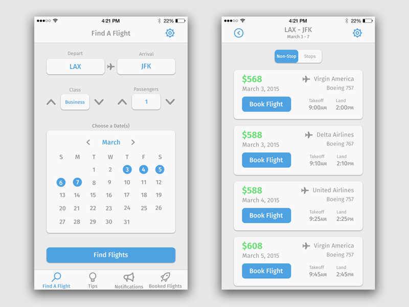 Flight Search App  Flight Search Ui Design And Ui Design Inspiration