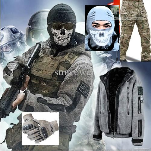 Best Call Of Duty Ghost Original Jacket Pants Gloves Skull Face