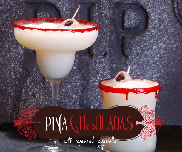 Pina Ghouladas !! There are other fun Halloween drink ideas too
