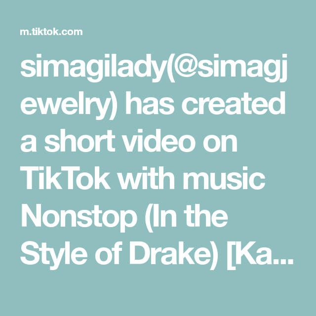 simagilady(@simagjewelry) has created a short video on TikTok with music Nonstop (In the Style of Drake) [Karaoke Version]. eat pasta run fasta #TheHighNote #homeworkout #foryou #pasta #momsoftiktok #momslife #chef #recipes #fyp #imadeit #viral #shapes #covergirl #food