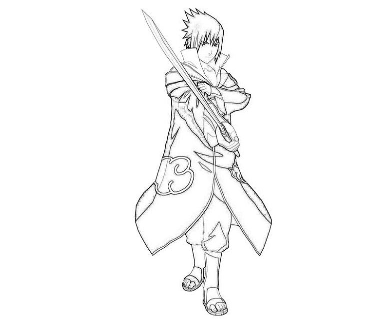 Naruto Shippuden Sasuke Coloring Pages