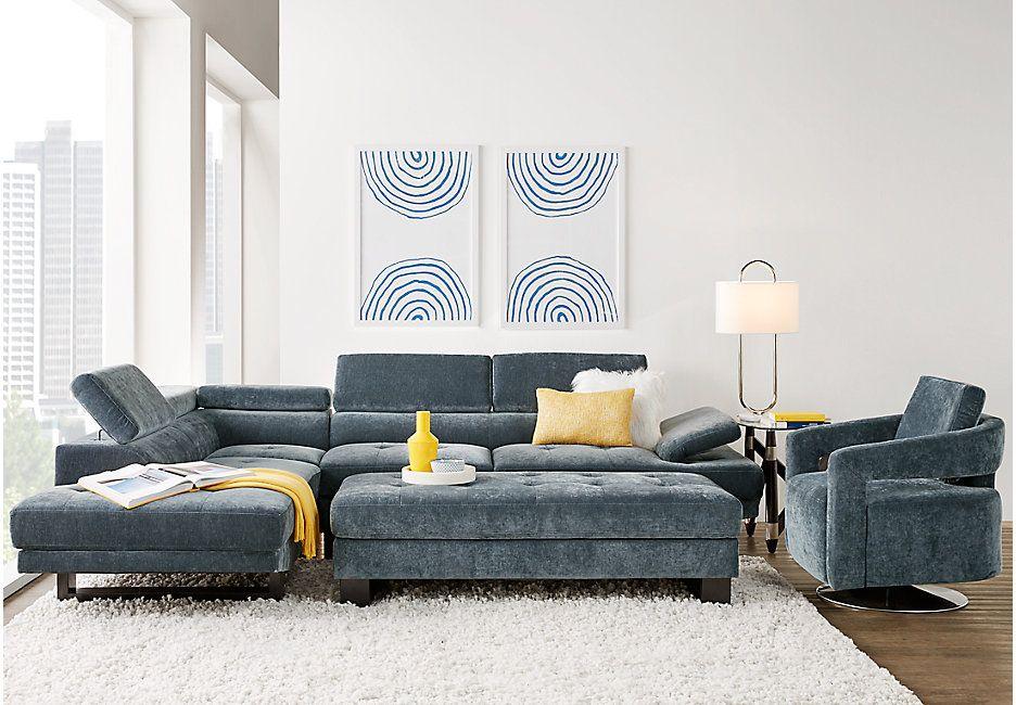 Northside Ocean 3 Pc Sectional Living Room In 2019 Living