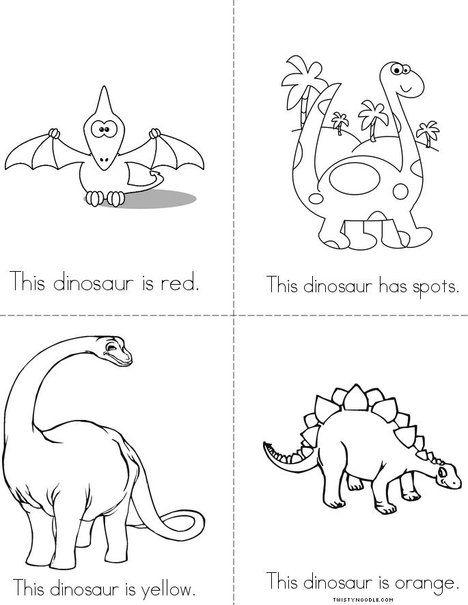 Dinosaur Colors Mini Book Dinosaur Coloring Pages Dinosaur Coloring Mini Books