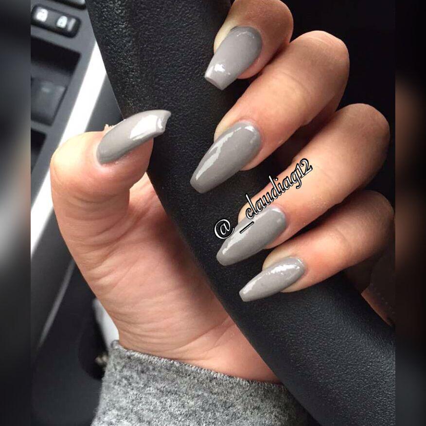 Gray Coffin Nails Chanel Nails Coffin Nails Coffin Nails Matte