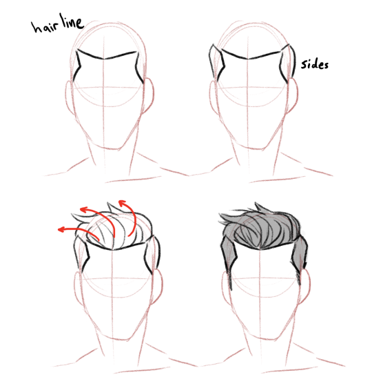 Short Male Hair Drawing Reference