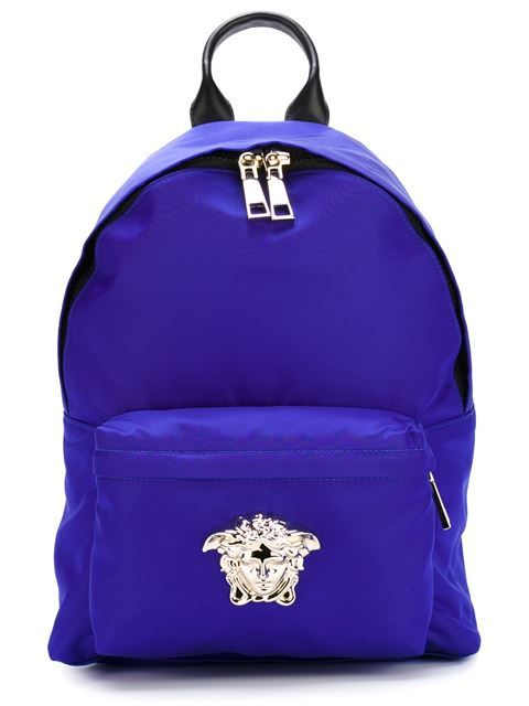 aeb6c7e5803 Shop Versace Medusa backpack in Eraldo from the world s best independent  boutiques at farfetch.com. Shop 400 boutiques at one address.