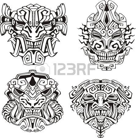 Astecas m photo   Tattoos   Pinterest   Azteca, Máscaras y Cultura