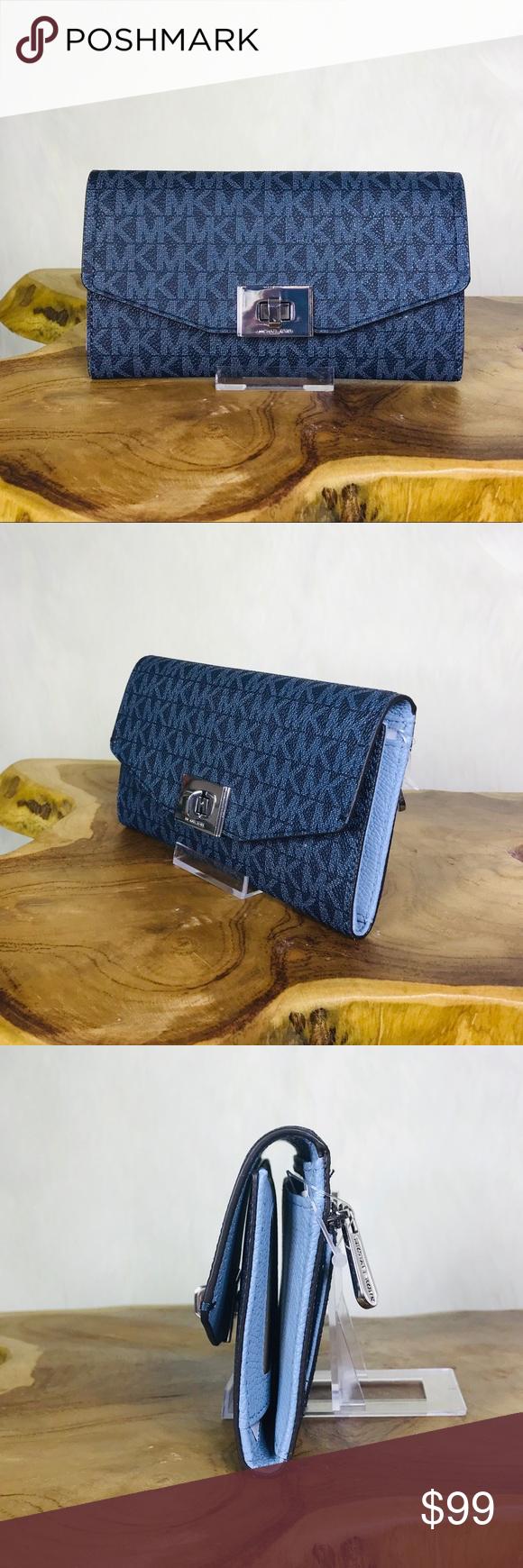 5af2554e3169 Michael Kors Cassie Large Trifold Wallet Michael Kors Cassie Large Trifold  Wallet Color  Admiral Blue