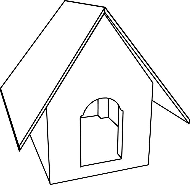 Dog House Cartoon Coloring Page Also See The Category To Read