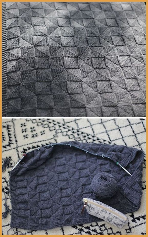 Photo of Geometrisk babyteppe – gratis mønster