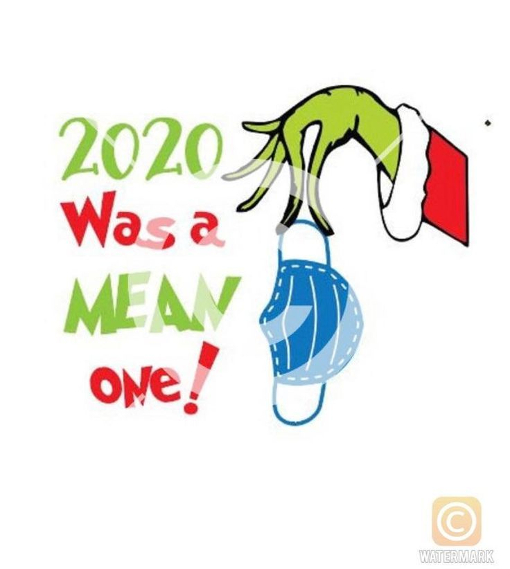 Grinch 2020 Christmas Mean One Mask SVG  PNG File
