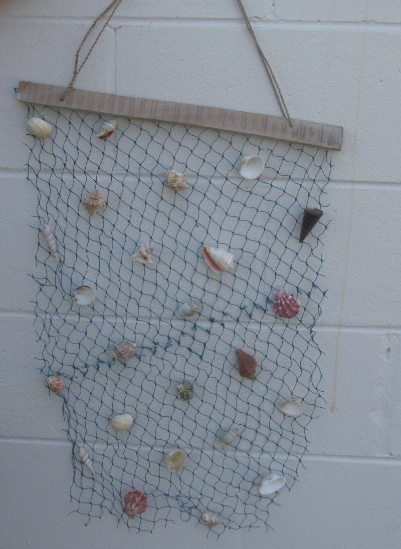 Wholesale Hanging Decorative Fish Net With Medium Shells Packed