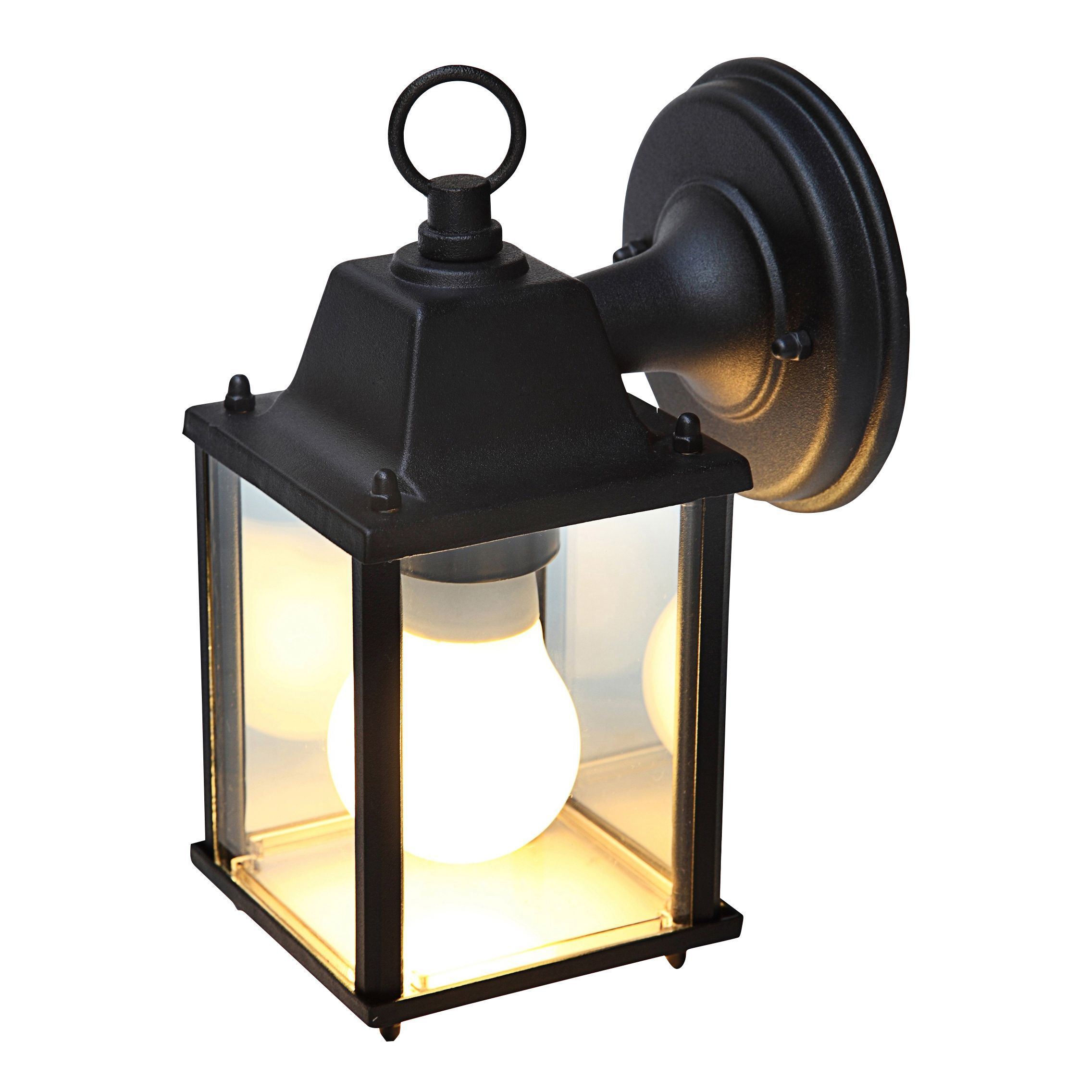 Blooma sollies black mains powered external wall light lights blooma sollies external wall light departments diy at bq aloadofball