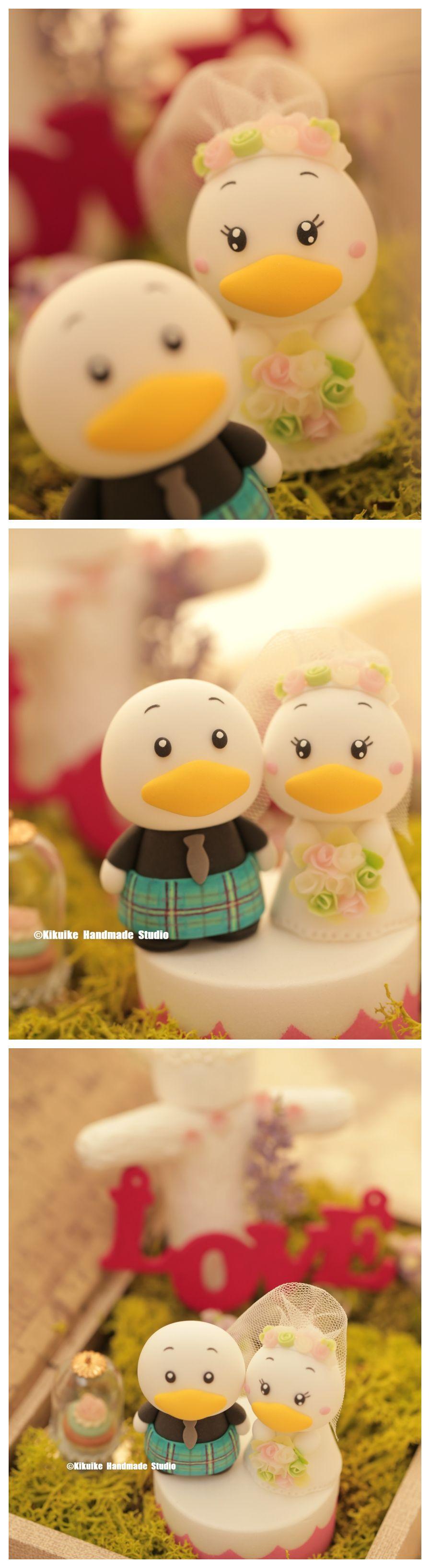 Custom order deposit for the lovely wedding cake topper ducks