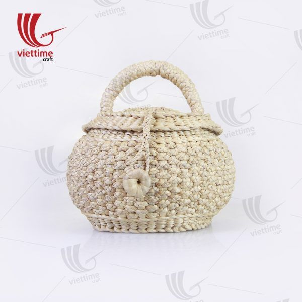 9906b0d77162 White Daisy Water Hyacinth HandBag Wholesale