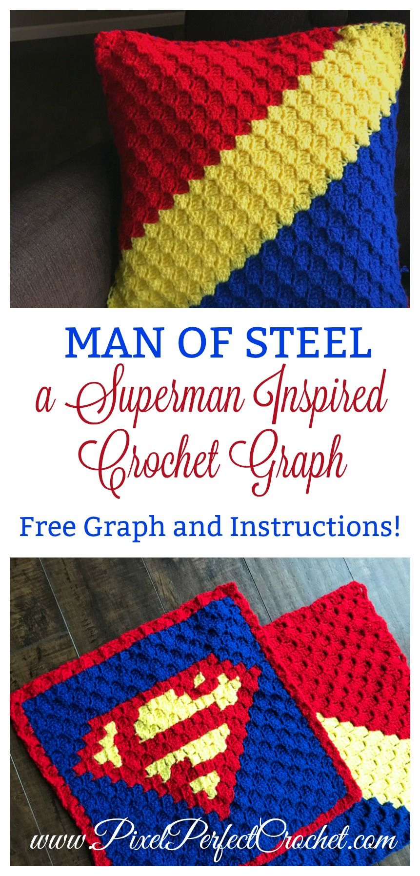 Man Of Steel A Superman Inspired Crochet Graph Free Corner To