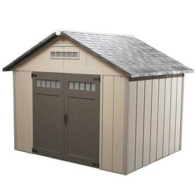 Homestyles Premier Gable Storage Shed Common 10 Ft X 8 Ft Interior Dimensions 7 75 Ft X 9 75 Ft Vinyl Storage Sheds Shed Storage Shed