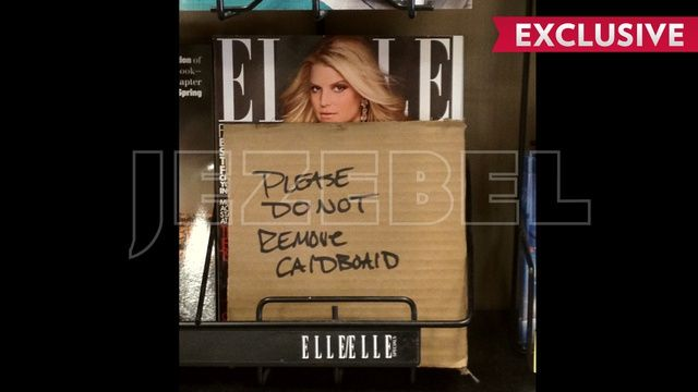 Jessica Simpson Elle Cover: Too Hot For Safeway! - The