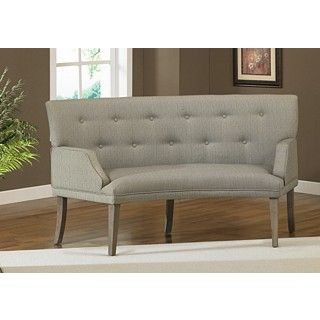 The Hilton Curved Graphite Loveseat The Look Of Reclaimed Wood Highlights This Hilton Curved