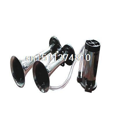 Sale 12v Stainless Steel Dual Trumpet Air Horn Compressor Kit
