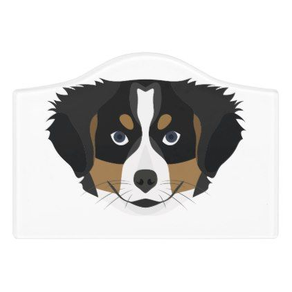 Illustration Bernese Mountain Dog Door Sign Office Ideas Diy