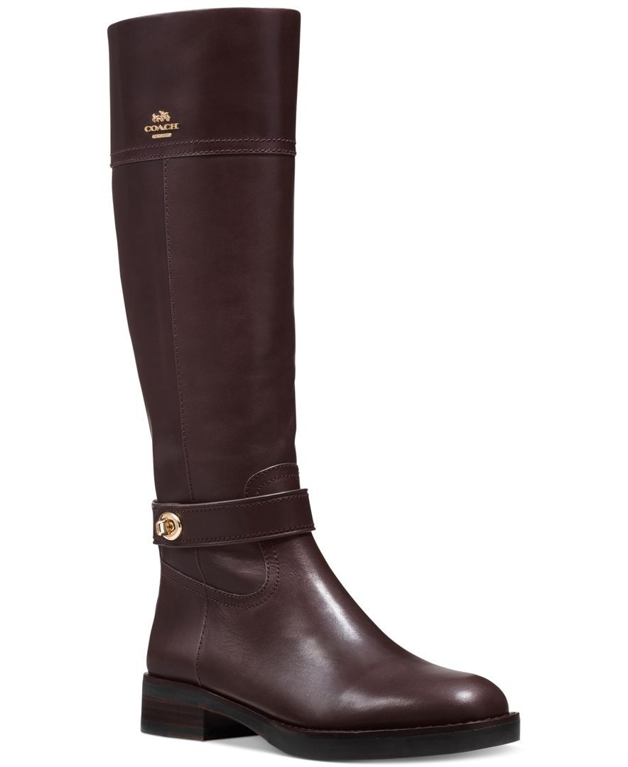COACH Eva Narrow Calf Riding Boots - Boots - Shoes - Macy's