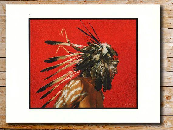 Native American Portrait, Kirby Sattler, Bird of Prey, Native American Fine Art, Southwestern