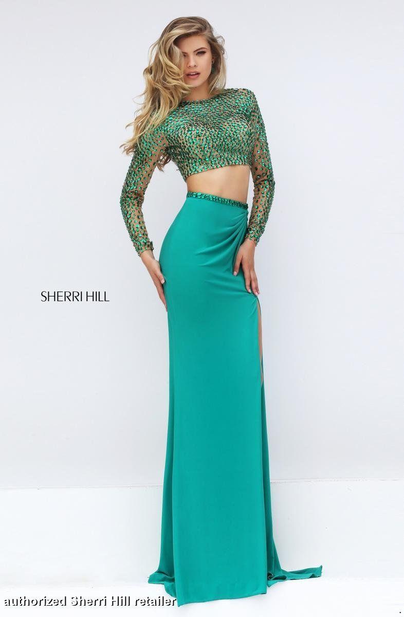Blue and green prom dress   Sherri Hill Sherri Hill Prom  Prom  Get prom ready