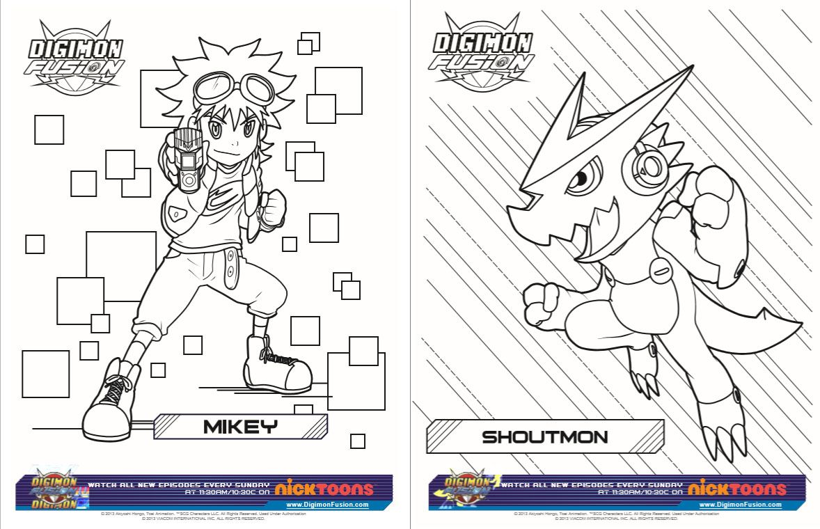Free Digimon Printable Activity Sheets Digimon Fusion Show New