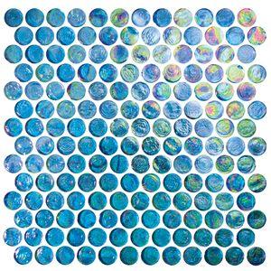 Tesoro Keluex21330 Excalibur Penny Round Gl Mosaic Sheet 8mm