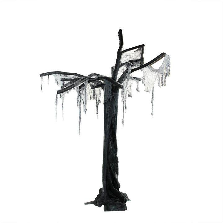 75\u0027 Black  Gray Spooky Ghost Tree Halloween Decoration Holiday - halloween decorations at walmart