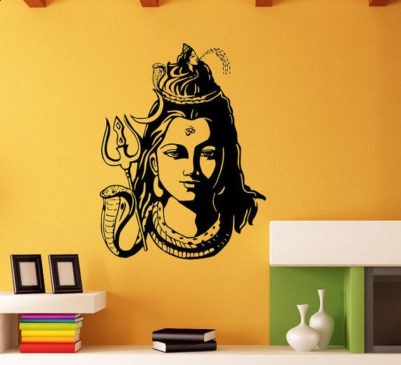 Hindu God Shiva Stencil Home Wall Decor Art Craft Paint Reusable Ideal Stencil