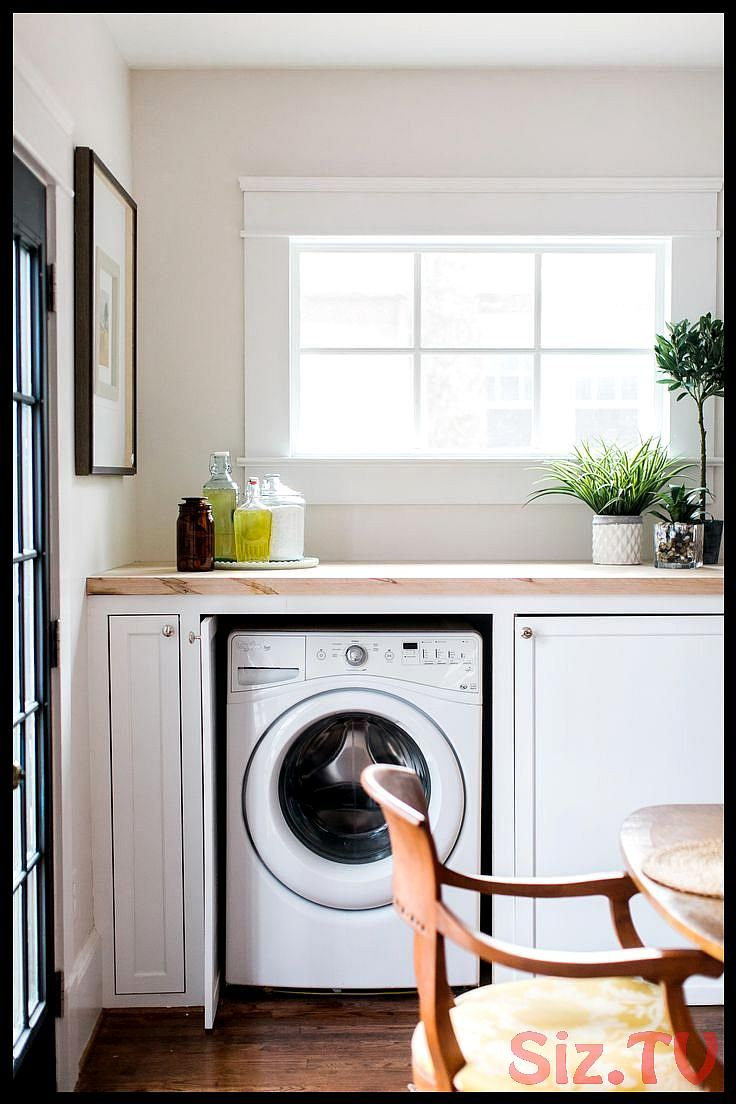 laundry room Old house solutions hidden laundry room space in kitchen Laundry room inspiration and designkitchen laundry laundryroom laundry room Old house solutions hidd...