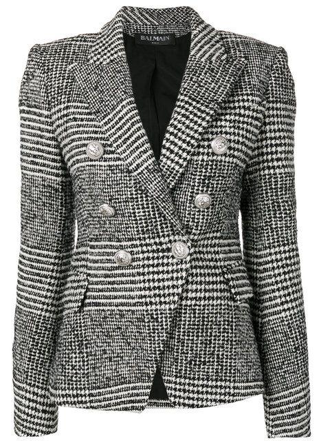 ~ Balmain Tweed Blazer ~ farfetch.com