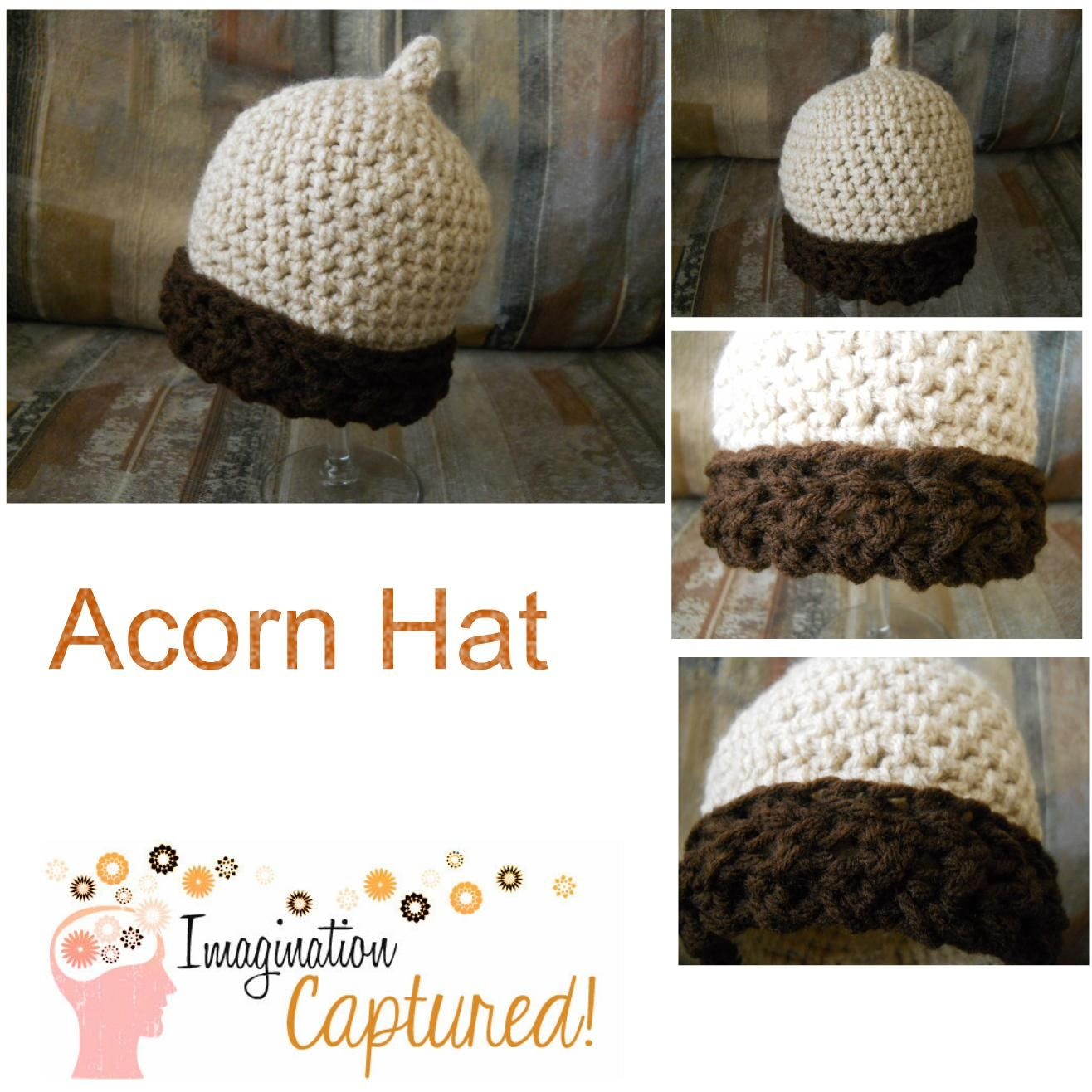 You can purchase this Family Nut Acorn Hat pattern here: http://www ...