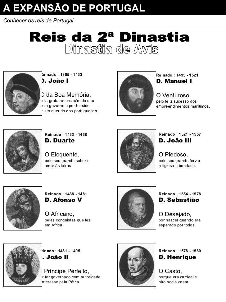 Reis Da 2ª Dinastia Portugal Historia De Portugal Trabalho De Escola Portugal