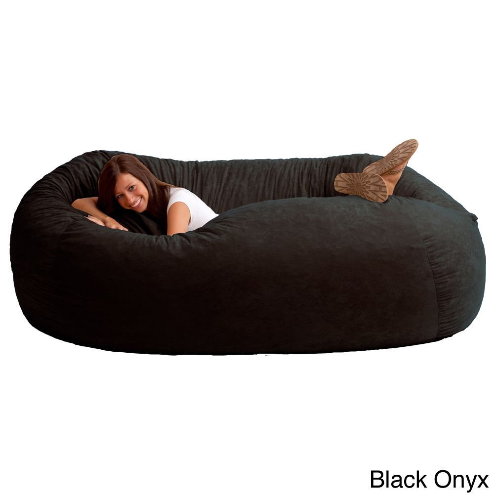 FufSack Memory Foam Microfiber 7 Foot XXL Bean Bag Chair | Overstock.com  Shopping