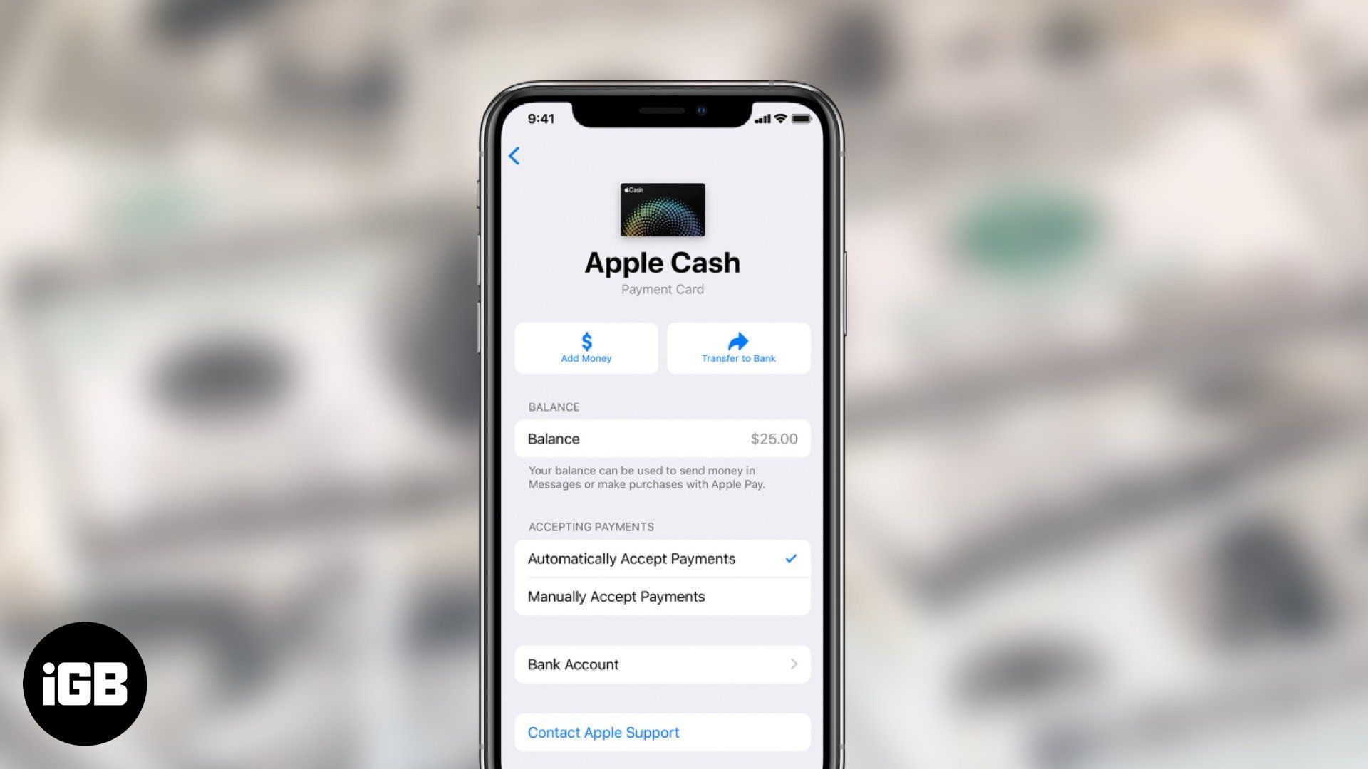 How to transfer apple cash to bank account or debit card