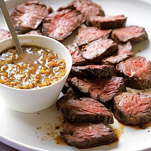Hanger Steak w/ Green Garlic - must try!