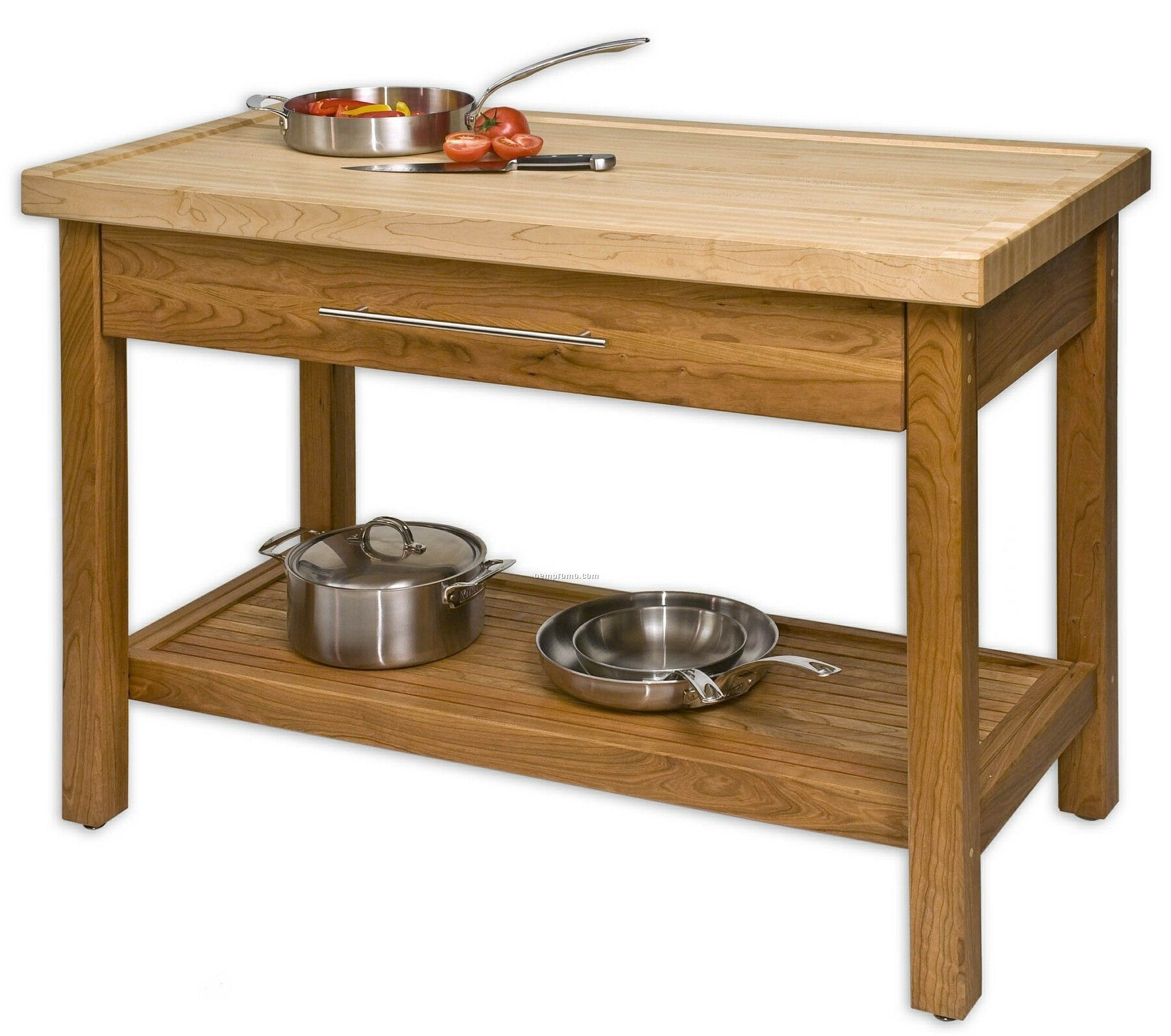 Kitchen, Exciting Solid Wood Kitchen Island Work Center With Single ...