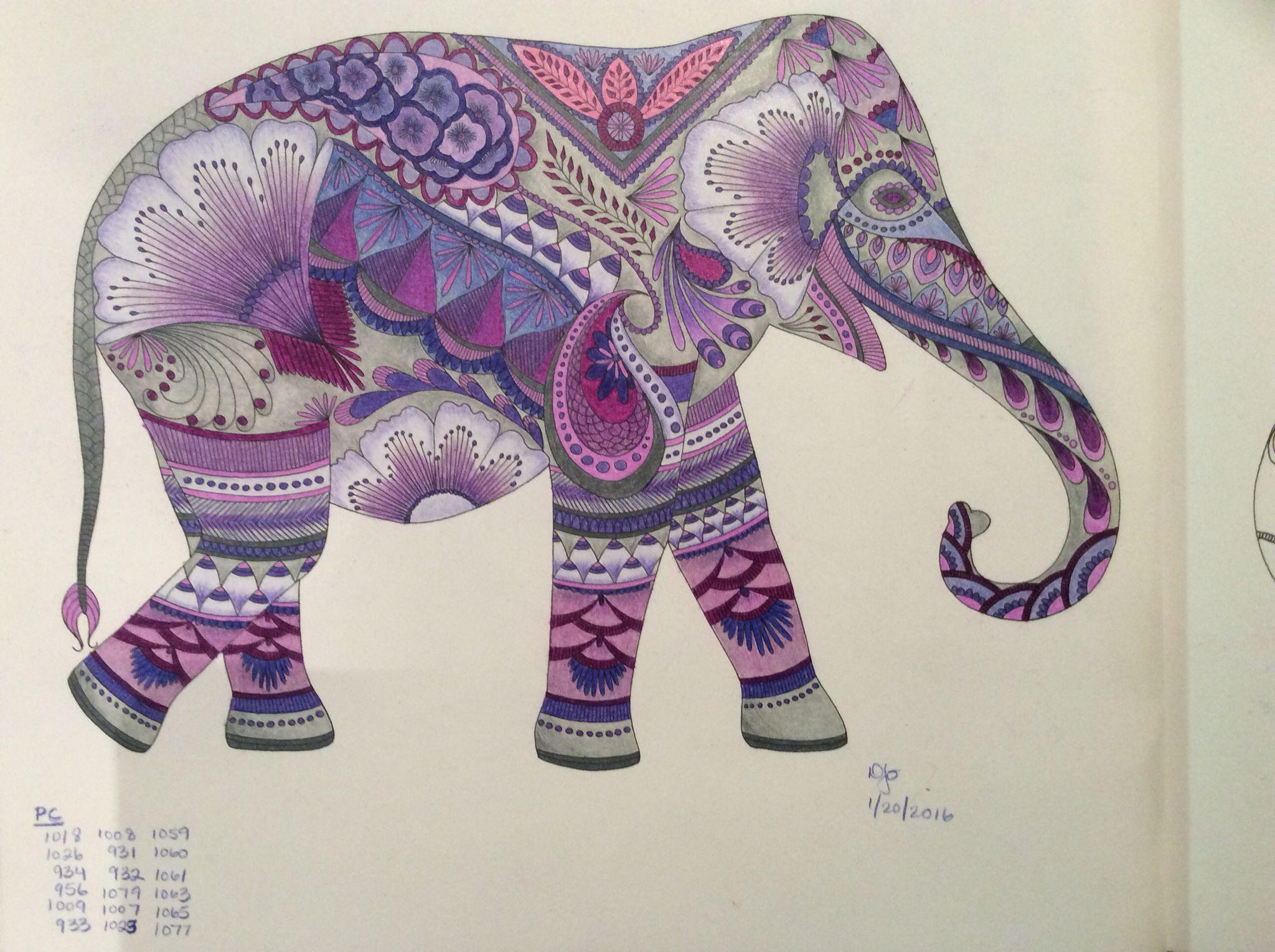 coloring i 39 ve completed elephant animal kingdom millie marotta in 2019 elephant crafts. Black Bedroom Furniture Sets. Home Design Ideas