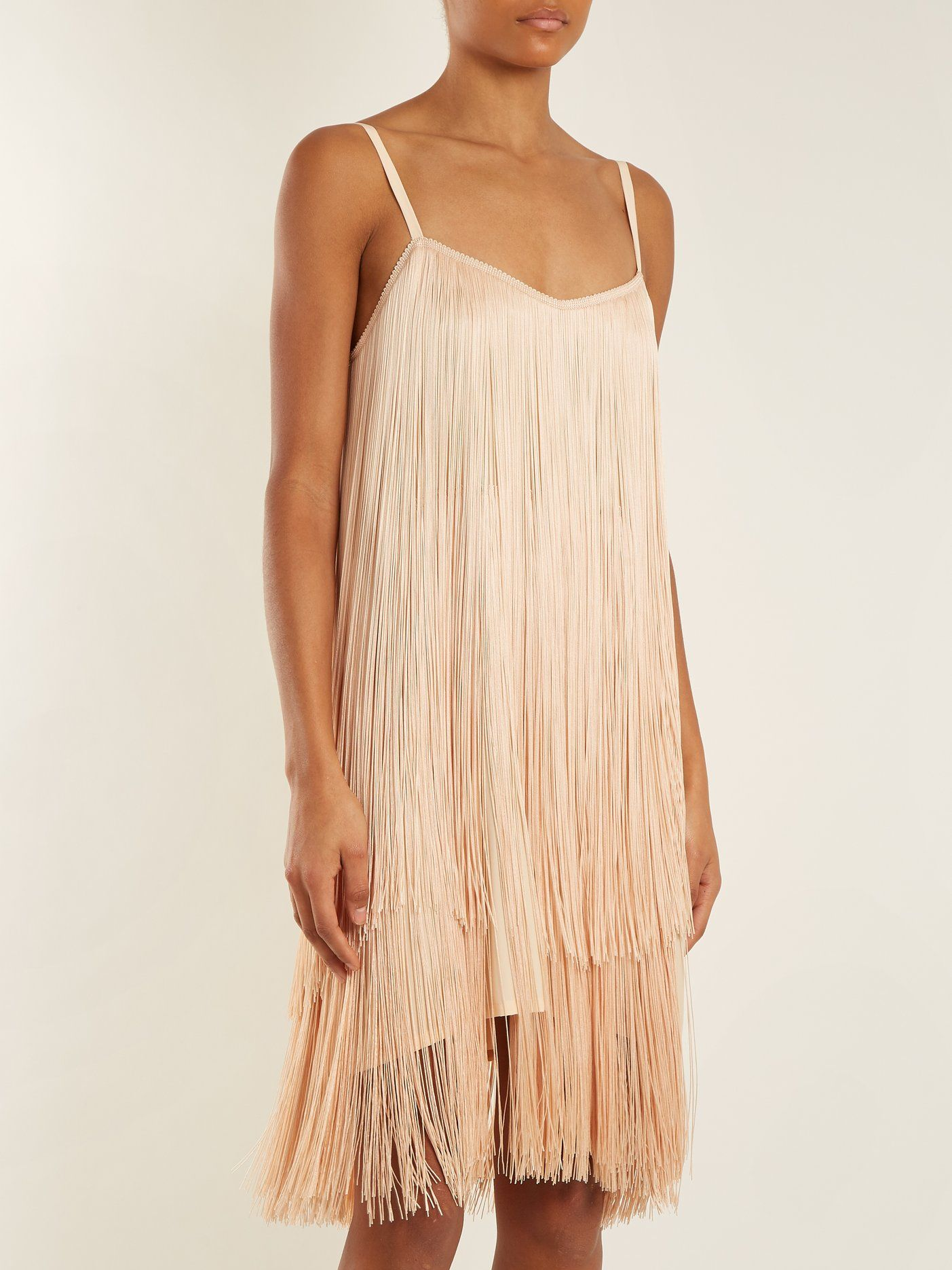 Long-fringe slip dress Raey Cheap Sale Footlocker Pictures Free Shipping Real For Nice Cheap Online YgDgf
